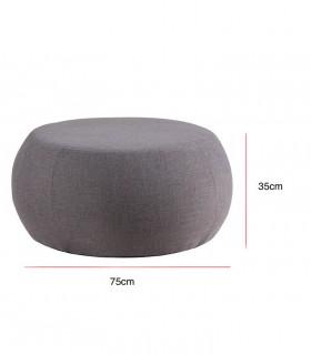 Medidas: Puff ALAN tela gris ø75cm Somcasa