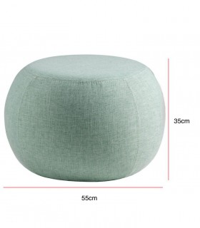 Medidas Puff LUKA tela mint, verde menta ø55cm Somcasa