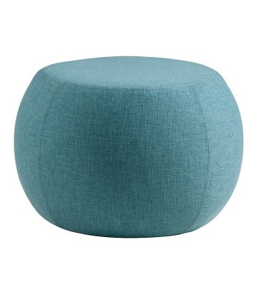 Puff LUKA tela azul ø55cm Somcasa