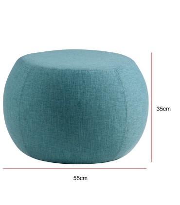 Medidas Puff LUKA tela azul ø55cm Somcasa
