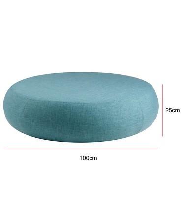 Medidas Puff grande ALEX tela azul ø100cm Somcasa