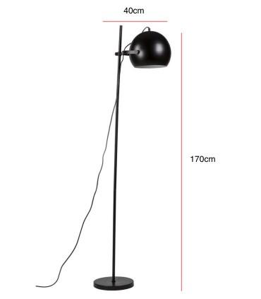 Medidas Lámpara de pie TORIS negro Somcasa
