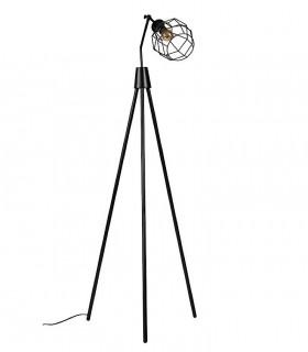 Lámpara de pie SERPIS negro Somcasa