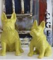 Figura PERRO grande amarillo/verdoso