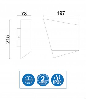 Medidas Aplique Asimetric blanco 6220 Mantra