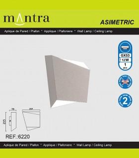 Características Aplique  Asimetric blanco 6220 Mantra