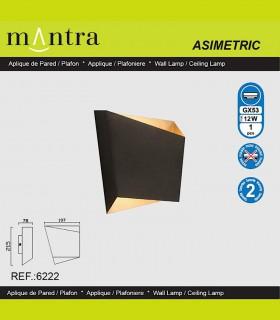 Características Aplique Asimetric negro-oro 6222 Mantra