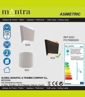Especificaciones Aplique Asimetric negro-oro 6222 Mantra