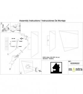 Instrucciones de montaje Aplique Asimetric negro-oro 6222 Mantra