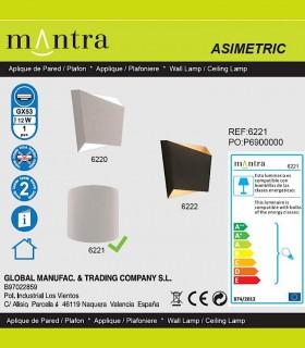 Características Aplique Asimetric Curvo blanco 6221 Mantra