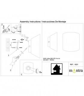 Instrucciones de montaje Aplique Asimetric Curvo blanco 6221 Mantra