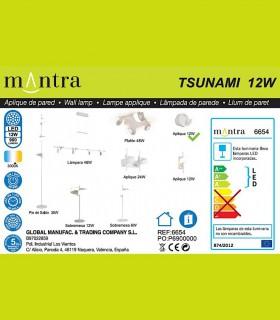 Especificaciones Aplique TSUNAMI LED blanco 6654 MANTRA