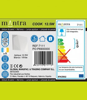 Especificaciones Aplique COOK blanco 7111 Mantra