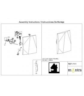 Instrucciones de montaje Aplique COOK blanco 7111 Mantra