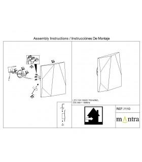 Instrucciones de montaje Aplique led COOK 10w blanco 7110 Mantra