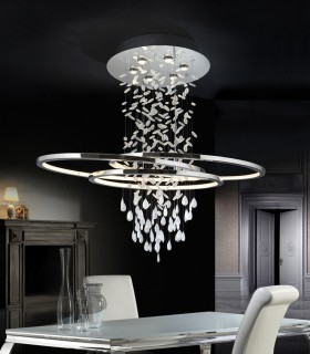 Lámpara BRUMA 6 luces +LED - Schuller