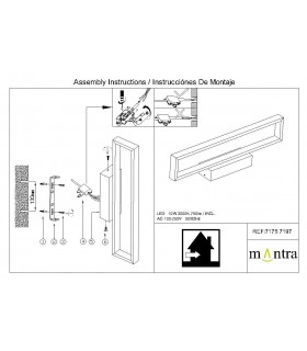 Instrucciones de montaje Aplique led DURBAN blanco 10w 7197 Mantra