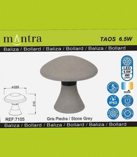 Detalles de Baliza led exterior TAOS 6.5W cemento IP65 7105  Mantra