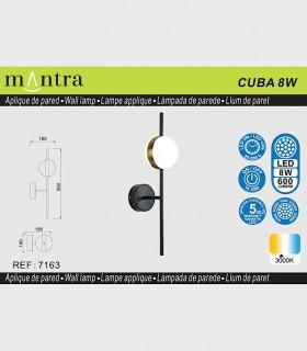 Características Aplique led CUBA 8W 7163 Mantra