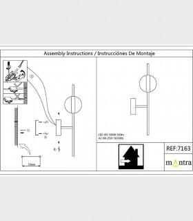 Instrucciones de montaje Aplique led CUBA 8W 7163 Mantra