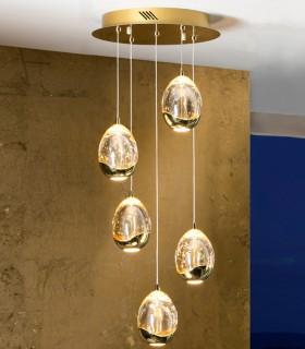 Lámpara 30cm ROCIO 5 led oro - Schuller