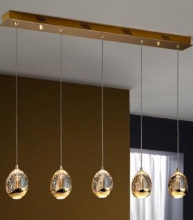 Lámpara ROCIO 5 led oro, 783627 de Schuller