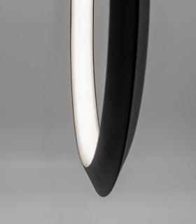 Detalle aro Lámpara colgante KITESURF LED 48W Negro 7141 Mantra