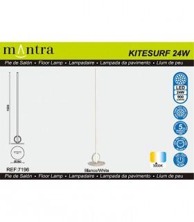 Características Lámpara de pie KITESURF LED 24W Blanco 7196 Mantra