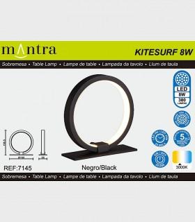Características Lámpara de mesa KITESURF LED 8W Negro 7145 Mantra