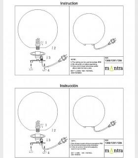 Instrucciones de montaje Lámpara Bola Exterior Blanca Avoriaz IP65 ø35cm E27 1388 Mantra