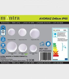 Colección Lámparas Bola Exterior  Avoriaz IP65 E27 Mantra