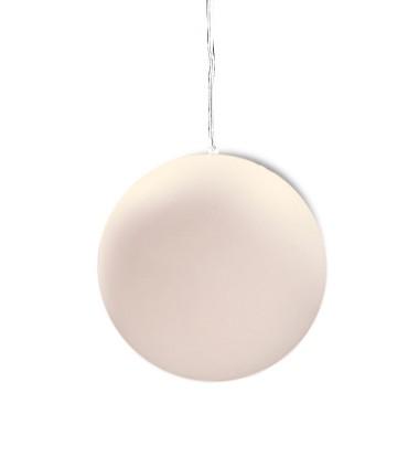 Lámpara Colgante Exterior Bola Blanca Avoriaz IP44 ø35cm E27 1397 Mantra