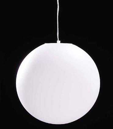 Lámpara Colgante Exterior Bola Blanca Avoriaz IP44 ø40cm E27 1398 Mantra
