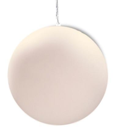 Lámpara Colgante Exterior Bola Blanca Avoriaz IP44 ø50cm E27 1399 Mantra