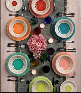 Vajilla 18 pzas Louise Daisy Multicolor Vajilla 18 pzas Louise Daisy Multicolor