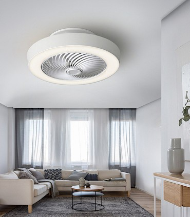 Ventilador VENTILUZ blanco diámetro 55cm - Schuller 137263