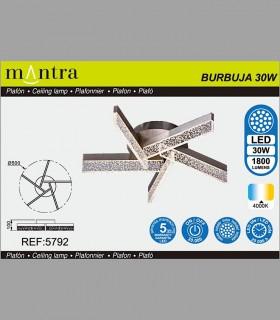 Características Plafón Burbuja led 30W,  5792 Mantra