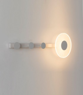 Aplique perchero con luz led Venus 6W 7292 Blanco Mantra