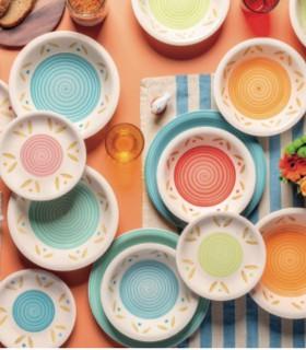 Vajilla 18 pzas Louise Daisy Multicolor