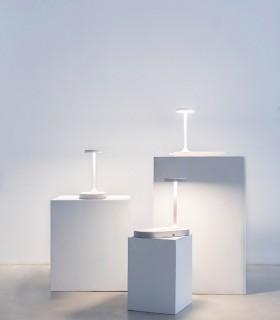 Lámpara de sobemesa con cargador de inducción Ceres blanco 7290 Mantra