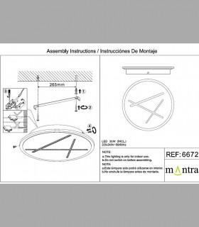 Instrucciones de montaje Plafón led Kenzo 30W 4000K 6672 Mantra