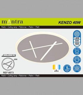Características Plafón-Aplique Led Kenzo 40W 4000K 6673 Mantra
