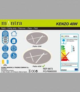 Colección Plafón-Aplique Led Kenzo 40W 4000K 6673 Mantra