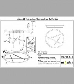 Instrucciones de montaje Plafón-Aplique Led Kenzo 40W 4000K 6673 Mantra