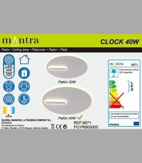 Colección Plafón-Aplique Clock 40W 4000K 6671 Mantra