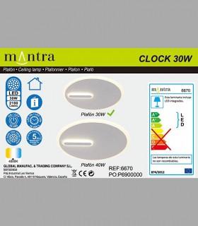 Colección Plafón-Aplique Clock 30W 4000K 6670 Mantra