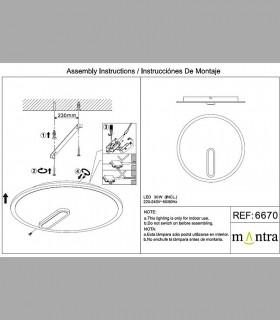 Instrucciones de montaje Plafón-Aplique Clock 30W 4000K 6670 Mantra