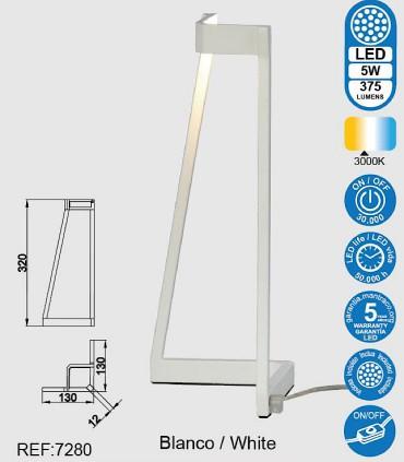 Características Lámpara de mesa  Minimal Blanco 7280 Mantra