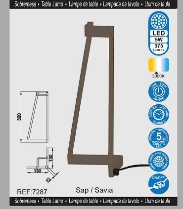 Características Lámpara de mesa Minimal Savia 7287 Mantra