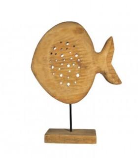 Figura Escultura Pez Madera Alto